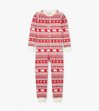 Little Blue House by Hatley Kids Union Suit - Fair Isle Bear