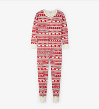 Little Blue House by Hatley Adult Union Suit - Fair Isle Bear - front