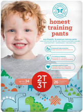 The Honest Company Honest Training Pants - Dinosaurs Size 2T-3T (26 Count) | 817810029431