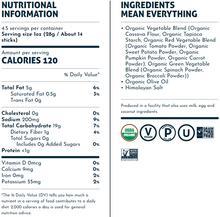 Lesser Evil Organic Veggie Sticks Himalayan Pink Salt - Grain Free 128g | Nutritional Information & Ingredients