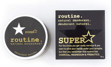 Routine Natural Deodorant - SUPERSTAR 58g (Activated Charcoal, Magnesium, Prebiotics)