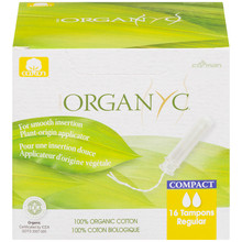 Organ(y)c 100% Organic Cotton Tampons with BIO-Based Compact Applicator - Regular 16 Count | 8016867007375
