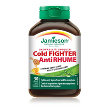 Jamieson Cold Fighter Chewable Tablets | UPC 064642090058, 064642091321