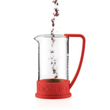 Bodum Brazil French Press Coffee Maker with Asymmetrical Handle - Red