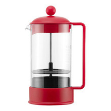 Bodum Brazil French Press Coffee Maker with Symmetrical Handle - Red 8-Cup, 1.0L, 34oz