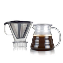 Bodum Melior Coffee Dripper with Permanent Stainless Steel Filter - Transparent 0.6L