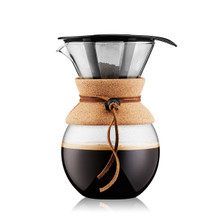 Bodum Pour Over Coffee Maker with Permanent Stainless Steel Filter - Cork 1.0L/34oz | 699965336820