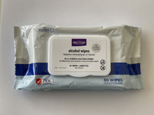 Relaxus Alcohol Wipes 50-Pack | UPC: 628949200055 | REL-150005
