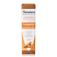 Himalaya Botanique Turmeric + Coconut Oil Whitening Antiplaque Toothpaste 113g | 605069067003