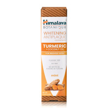 Himalaya Botanique Whitening Antiplaque Toothpaste Turmeric + Coconut Oil Mint 113g | 605069067003