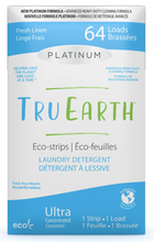 Tru Earth Platinum Eco-Strips Laundry Detergent - Fresh Linen 64 Loads | 899962000643