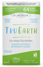 Tru Earth Platinum Eco-Strips Laundry Detergent - Fragrance-Free 64 Loads | 899962000667