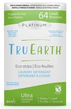Tru Earth Platinum Eco-Strips Laundry Detergent - Fragrance-Free 64 Loads | 899962000667