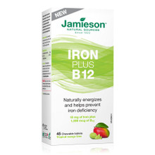 Jamieson Iron Plus B12 - Mango Lime 45 Chewable Tablets | 064642091727