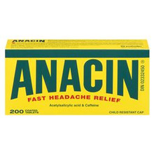 Anacin Fast Headache Relief 325mg 200 Coated Tablets | 628791869806