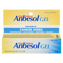 Anbesol Exra Strength Gel 20% Topical Anesthetic 7g |  628791869745