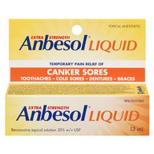 Anbesol Extra Strength Liquid 20% Topical Anesthetic 13 mL | 628791869738