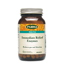 Flora Health Gluten-Free Immediate Relief Enzymes 60 Vegetarian Capsules | 061998013663