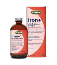 Flora Health Iron+ with B-Vitamin Complex 240ml | 061998047415