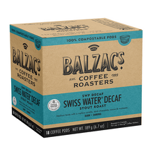 Balzac's Coffee Roasters Swiss Water Decaf Coffee Pods - Stout Roast Dark-Daring 18 Count | 628614001840