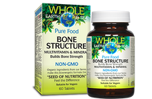 Natural Factors Whole Earth and Sea Bone Structure Multivitamin and Mineral 60 Tablets   068958355054