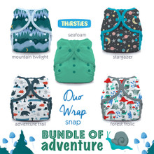 Thirsties Duo wrap Snap Diaper Package - Bundle of Adventure | 840015710941, 840015710958 | TDWBSBoA1, TDWBSBoA2