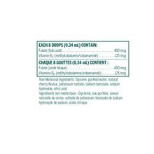 Genestra Bio Folic B12 Liquid 30 ml | Supplements Facts