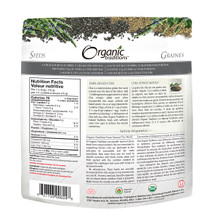 Organic Traditions Dark Milled Chia Seeds 227 grams | 627733006248