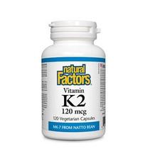 Natural Factors Vitamin K2 120 mcg 120 Vegetarian Capsules  | 627765012972