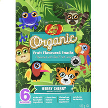 Jelly Belly Organic Fruit Flavored Snacks  Berry Cherry 12 x 6 Pack | 071570423599