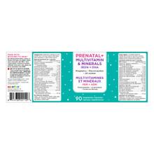 KidStar Nutrients Prenatal+ Multivitamin & Minerals Iron + Algae DHA 90 Vegetable Capsules - Nutritional Facts |  855938001106