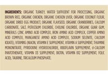 Castor & Pollux Organix Organic Turkey, Brown  Rice and Chicken Recipe 156g (Cat) - Ingredients|780872079013