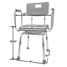 Mobb Swivel Shower Chair Dimensions UPC 844604096409
