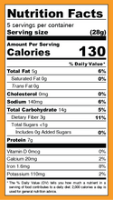 Iwon Organics Protein Puffs Cheddar Cheese 8 x 42g - Nutrition Facts | 854646006328