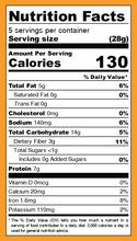 Iwon Organics Protein Puffs Cheddar Cheese 8 x 42g - Nutrition Facts | 854646006366