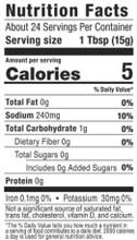 G Hughes Sugar Free Marinade - Teriyaki 367g Nutrition Facts | 026825090054