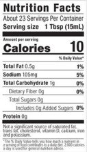 G Hughes Sugar Free Wing Sauce 355 ml - Caribbean Jerk Nutrition Facts | 026825090514