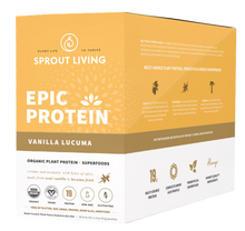 Sprout Living Epic Protein Organic Plant Protein + Superfoods 16 x 32g Pouches - Vanilla Lucuma | 852457007176