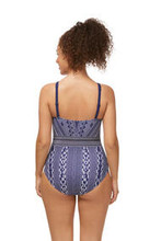 Amoena Bohemian Chic One-Piece High Neck Swimsuit - Water Blue | Front | 4026275425689 | 4026275425740| 4026275425696| 4026275425757