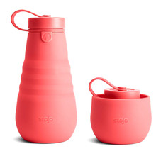 Stojo Collapsible Water Bottle 20oz - Coral | 850004834688