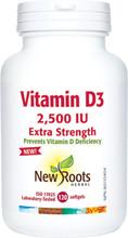 New  Roots Herbal Vitamin D3 2,500 IU Extra Strength (120 Softgels)| 628747127387