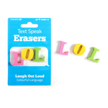 SUCK UK Text Speak Erasers LOL|5060043064754