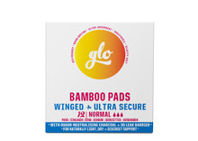 Here We Flo Glo Bamboo Pads Winged - 12 Ultra Secure Normal   5060630100162