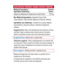Progressive Magnesium Bisglycinate 225mg - Gentle 120 Vegetable Capsules | 837229009954