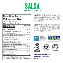 Fody Low Fodmap & Gut Friendly Salsa 450mL - Mild Nutrition Facts | 628055758822