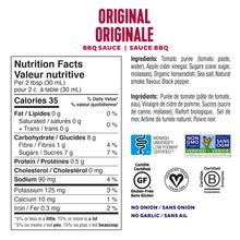 Fody BBQ Sauce 296mL - Original Nutrition Facts | 628055758846