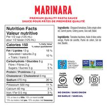 Fody Gut-Friendly Premium Pasta Sauce 550g - Marinara Nutrition Facts | 628055758372