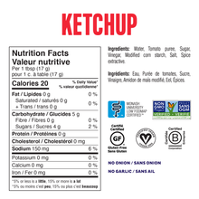Fody Ketchup 475g - Nutrition Facts | 628055758853