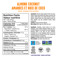 Fody Snack Bar 40g - Almond Coconut Nutrition Facts | 628055758860