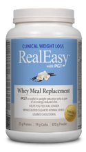 Natural Factors RealEasy with PGX Whey Meal Replacement Vanilla 627765036084